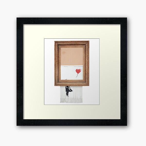 Bansky Love Is In The Bin Short-Sleeve Unisex T-Shirt Framed Art Print