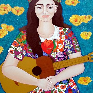 Violeta Parra and the song The gardener  by madalenalobaote