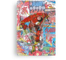 Vintage Comic Flash Canvas Print