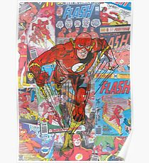 Vintage Comic Flash Poster