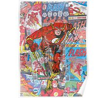 Vintage Comic Flash Poster
