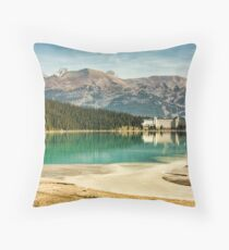 The Fairmont Chateau, Lake Louise Throw Pillow