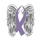 Winged Awareness Ribbon (Light Purple) by blakcirclegirl