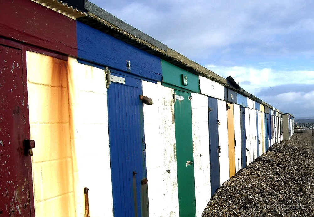 Beach Huts by Gordon Hewstone