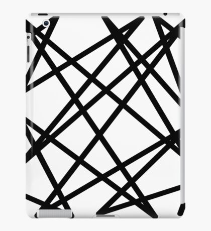 Black lines iPad Case/Skin