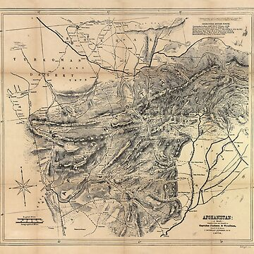 Map of Afghanistan (1879) by allhistory