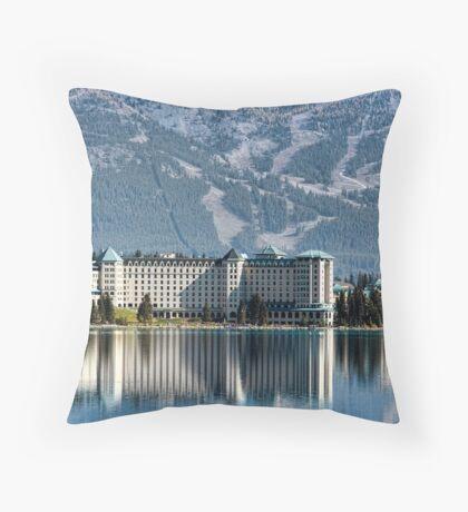 The Fairmont Chateau, Lake Louise Throw Pillow