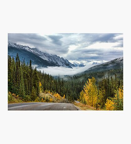 Maligne Lake Road Photographic Print