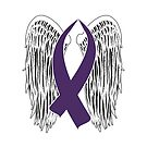 Winged Awareness Ribbon (Purple) by blakcirclegirl