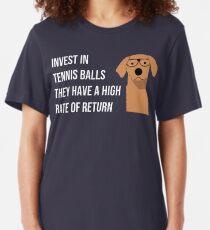 Funny Dog Accountant Financial Advisor Finance Teacher  Slim Fit T-Shirt