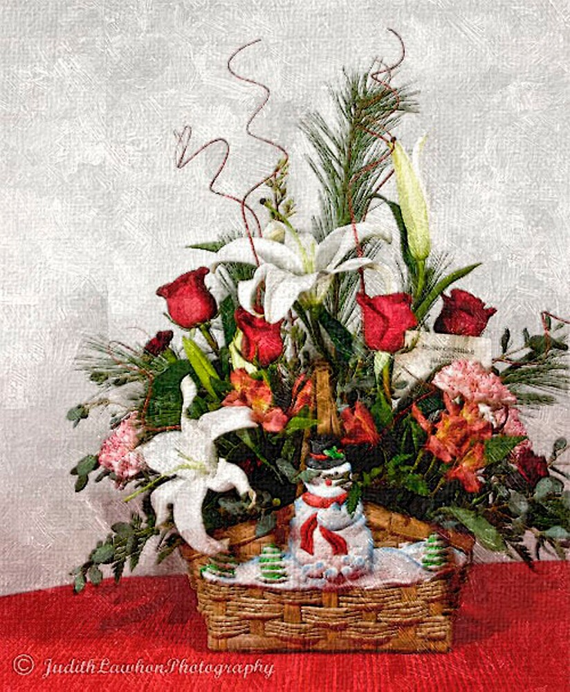 Christmas bouquet by Judy Lawhon