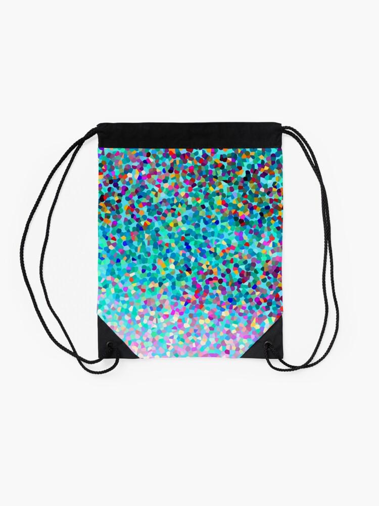 Alternative Ansicht von Aqua Blue Mehrfarbige Abstrakte Kunst Formt Muster Turnbeutel
