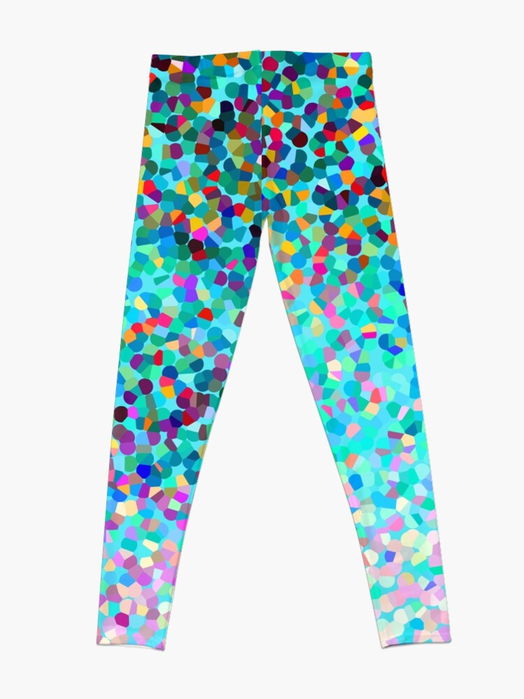 Alternative Ansicht von Aqua Blue Mehrfarbige Abstrakte Kunst Formt Muster Leggings
