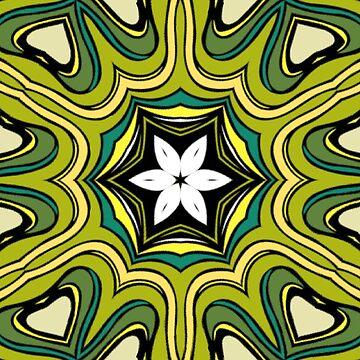 Geometrisches Muster des grünen Klees von skinnyginny