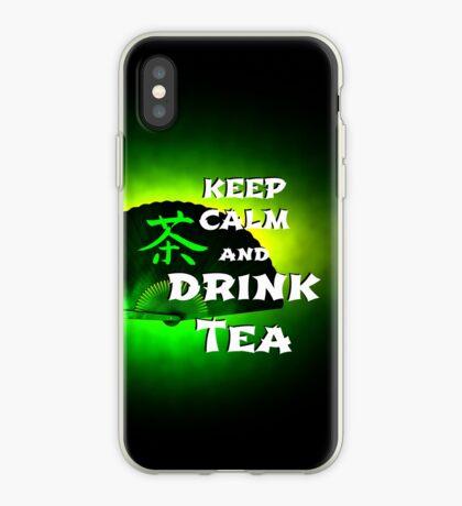 Keep Calm And Drink Tea - green Tea iPhone-Hülle & Cover