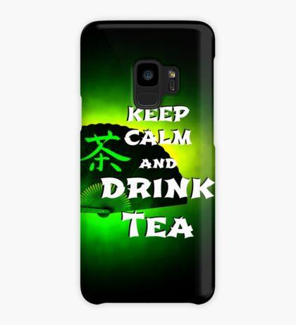 Keep Calm And Drink Tea - green Tea Hülle & Skin für Samsung Galaxy