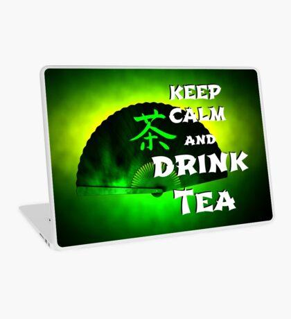 Keep Calm And Drink Tea - green Tea Laptop Skin