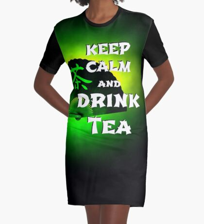 Keep Calm And Drink Tea - green Tea T-Shirt Kleid