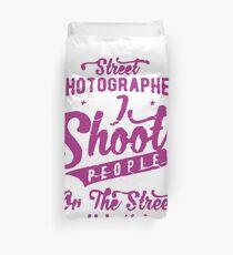Street Photographer Shoot People on the Street  Duvet Cover