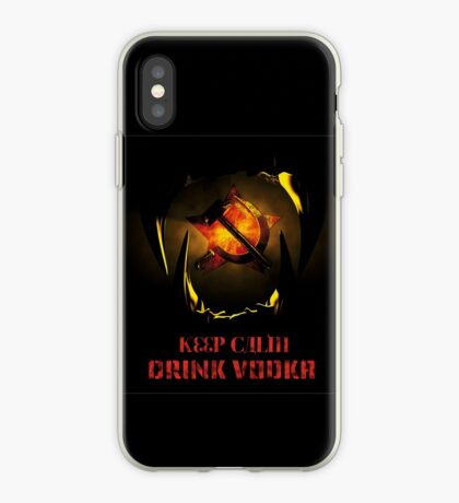 KEEP CALM DRINK VODKA iPhone Case