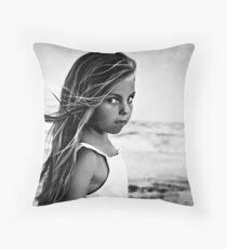 Summer Wind (BW) Throw Pillow