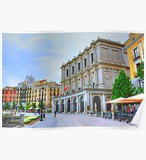 Madrid - Plaza de Oriente. Teatro Real. Poster