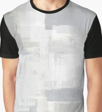 Gray on Grey Abstract Graphic T-Shirt