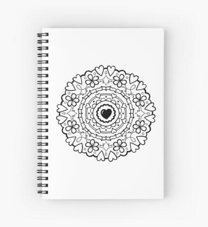 Just Add Colour - Mandala Love Spiral Notebook