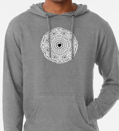 Just Add Colour - Mandala Love Lightweight Hoodie