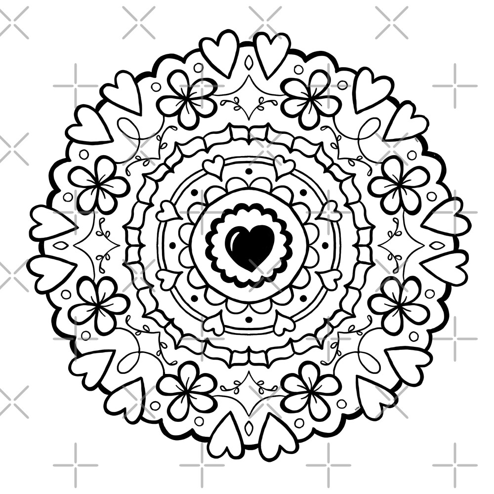 Just Add Colour - Mandala Love by FunkiFish