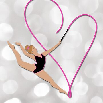 Blonde Pink Gymnast Heart by umeimages