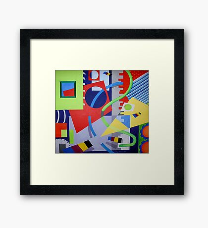 Moving Pieces 2 Framed Print