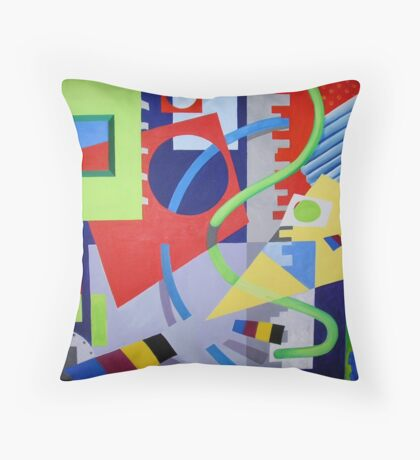 Moving Pieces 2 Throw Pillow