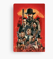 Red Dead Poster Canvas Print