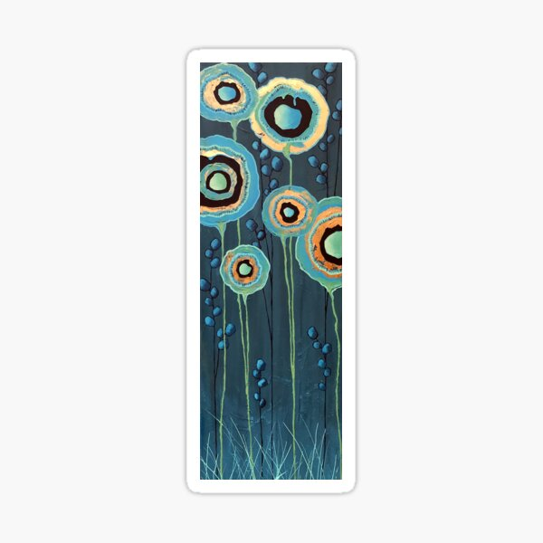 Stand Tall Abstract Floral Sticker