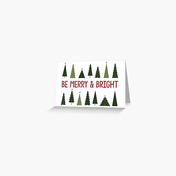 Be Merry & Bright Christmas Card Greeting Card