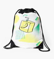 Neon Banana Milk Drawstring Bag