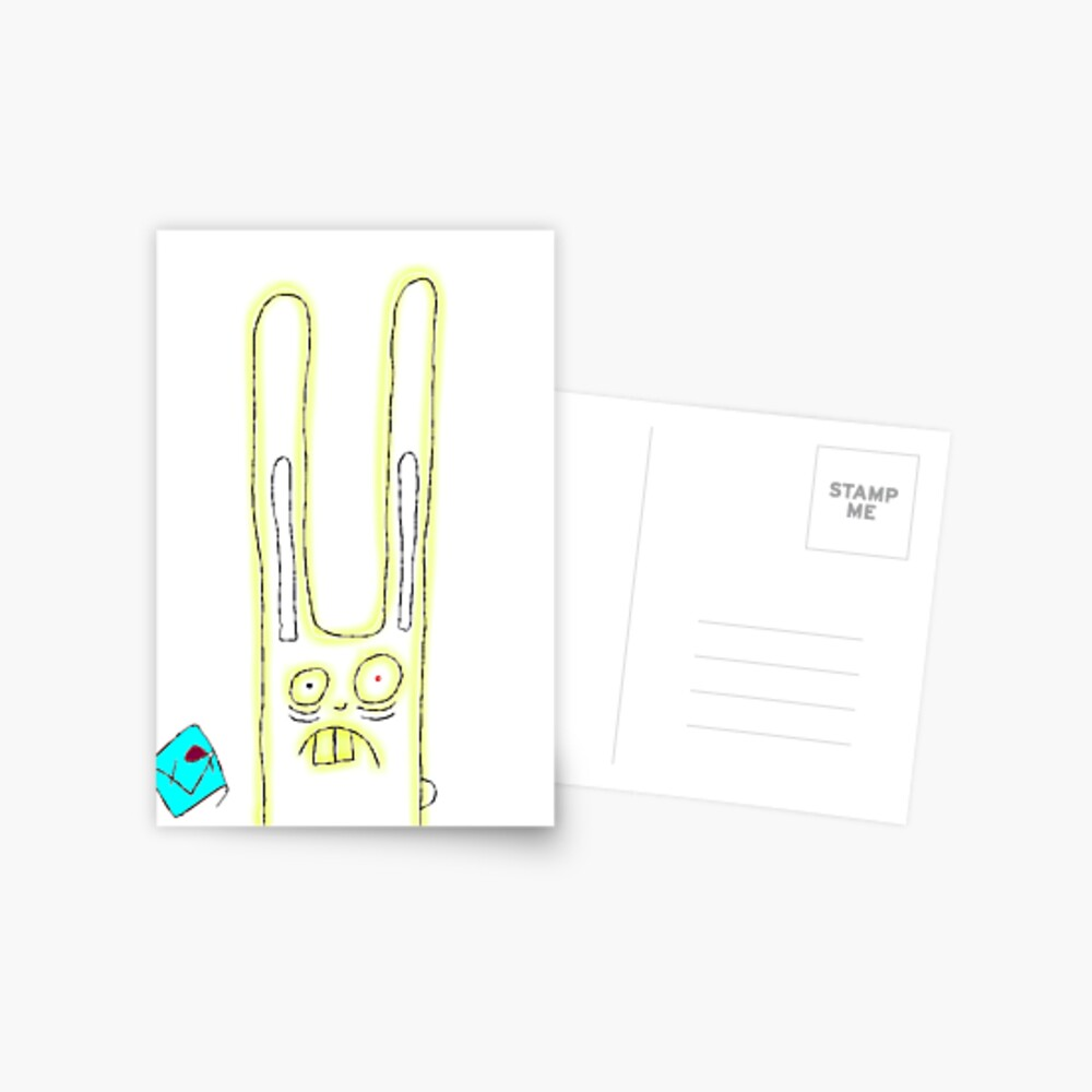 """Trauma Bunny"" by Richard F. Yates Postcard"
