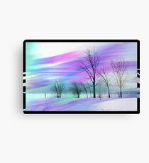 Stroked landscape Canvas Print