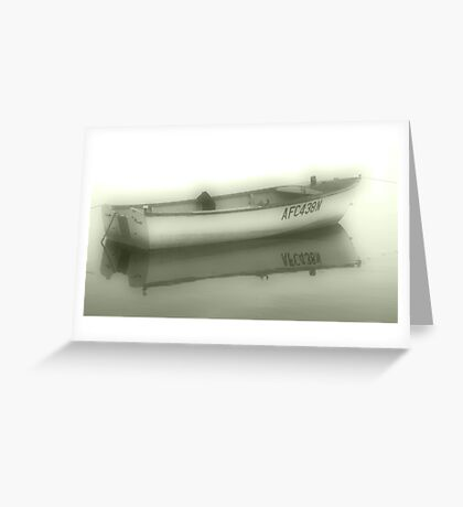Misty Boat Greeting Card