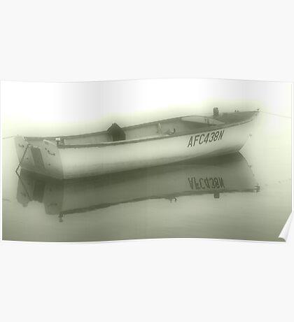 Misty Boat Poster