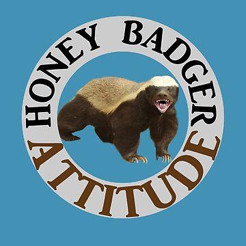 Funny Animal Indian Honey Badger Attitude by rubina