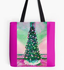 Christmas Tree in a pink theme.  Tote Bag