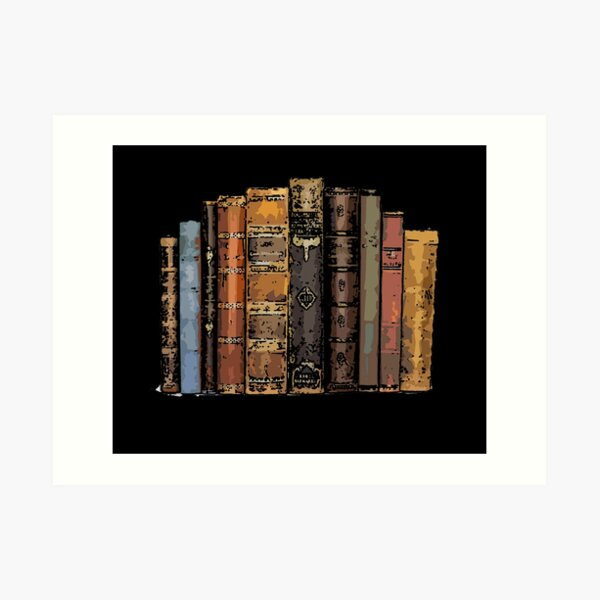 Stack of Books 17 Art Print
