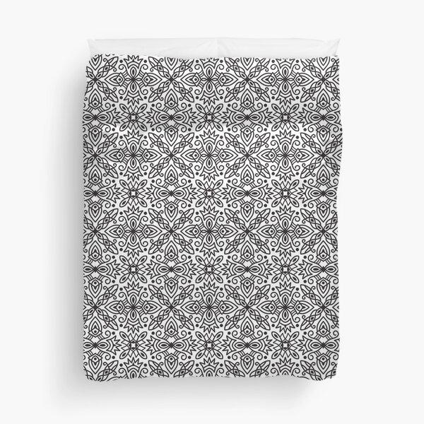 Bold Black & White Medallion Pattern 201811 Duvet Cover