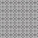 Bold Black & White Medallion Pattern 201811 by inklaura