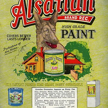 1933 Alsation Paints  by taspaul