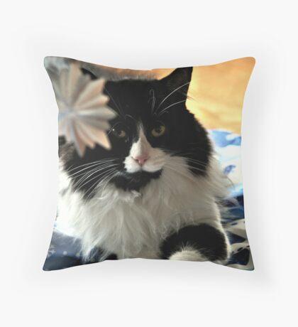 Christmas Cat Throw Pillow