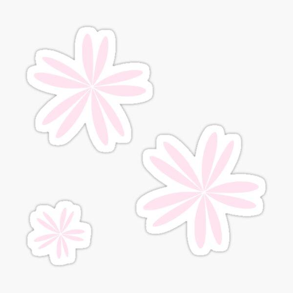 Little Baby Pink Flowers Sticker
