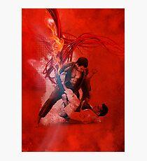 Brazilian Jiu Jitsu Fire Photographic Print
